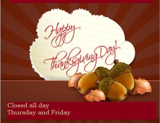 Thanksgiving for website
